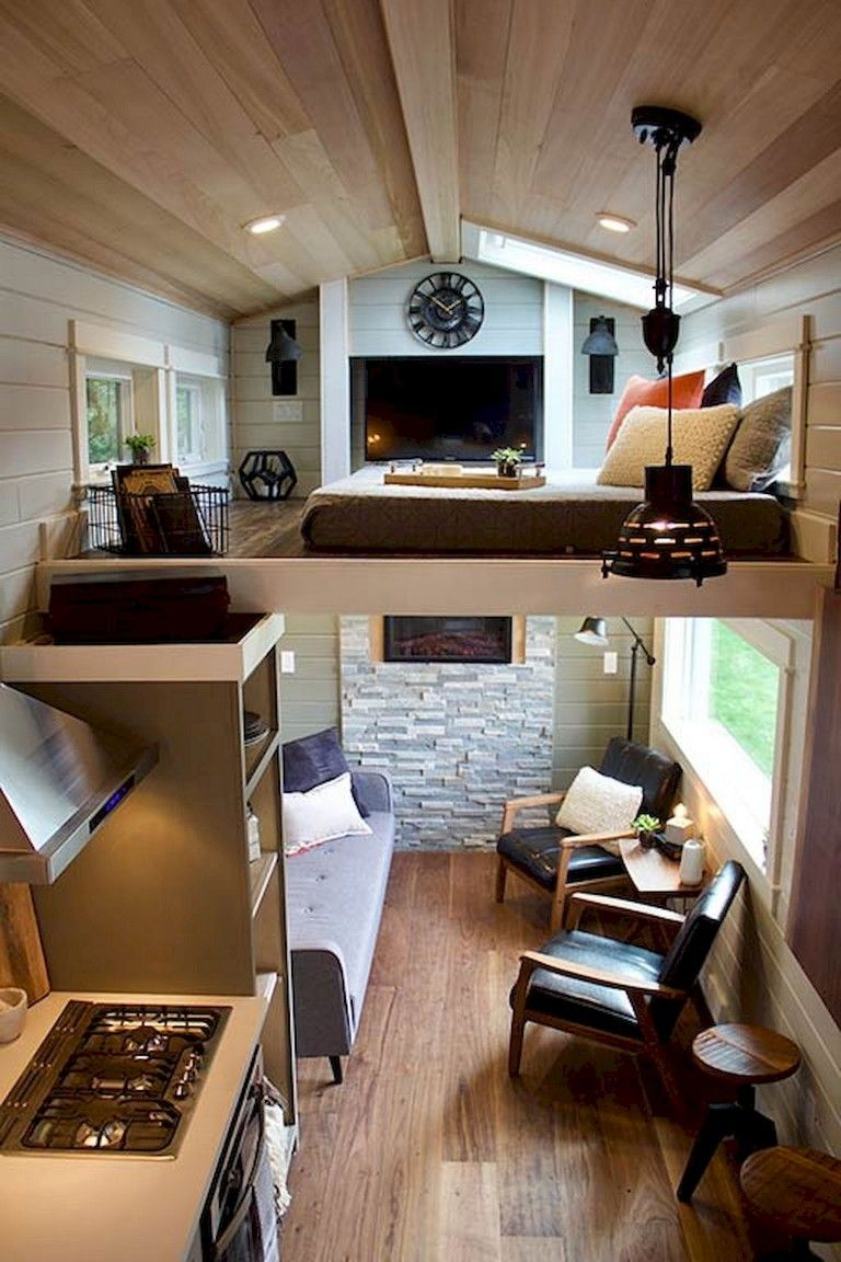 35 Amazing Tiny House Ideas With Small Space Solutions Designideas Designsforlivingroom Design Tiny House Living Room Tiny House Living Tiny House Interior