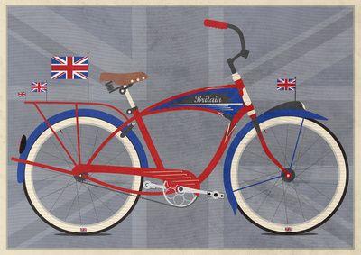 British Bicycle Art Print