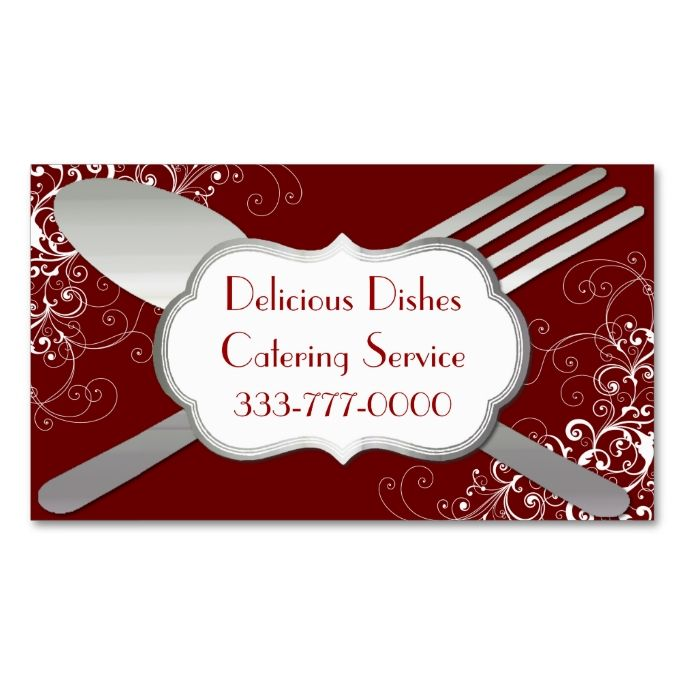 Chic fork spoon food service business card food service chic fork and spoon food service business card this is a fully customizable business card colourmoves Choice Image