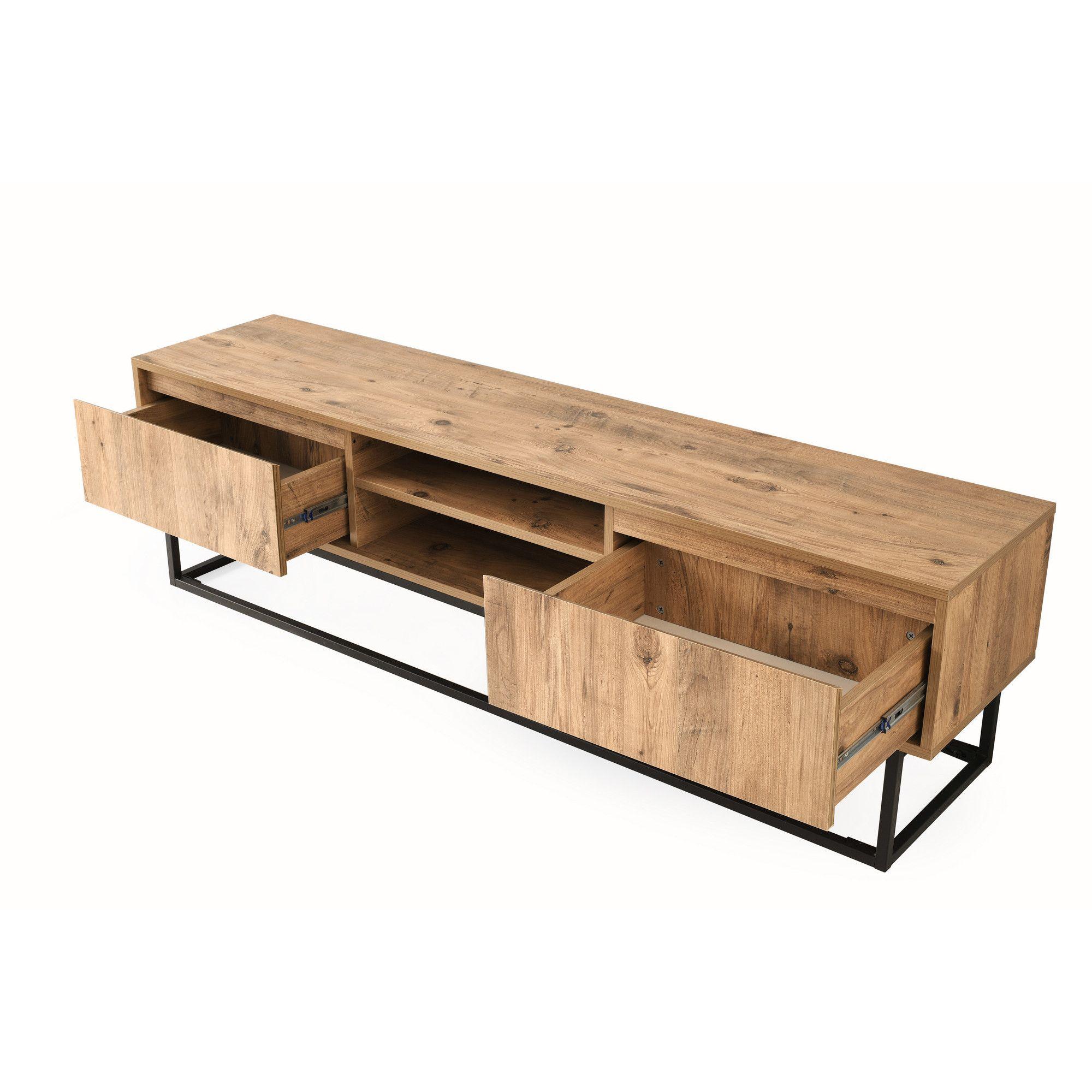 meuble tv belinda 180 noir bois