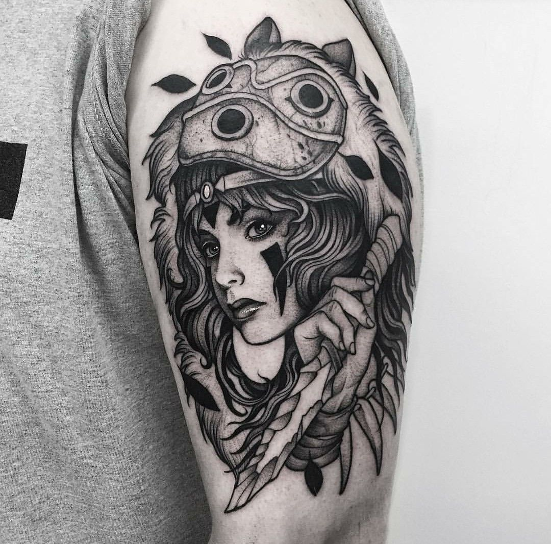 Illustration Tattoos: Tatoo, Princesa Mononoke