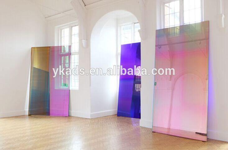 Venda Quente Bonito Iridescent Acrilico Fluorescente Folha Pelicula Iridescente Design Contemporary Art Installation Art