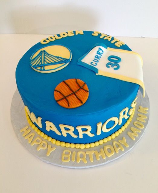Golden State Warriors Birthday Cake Basketball Birthday Cake