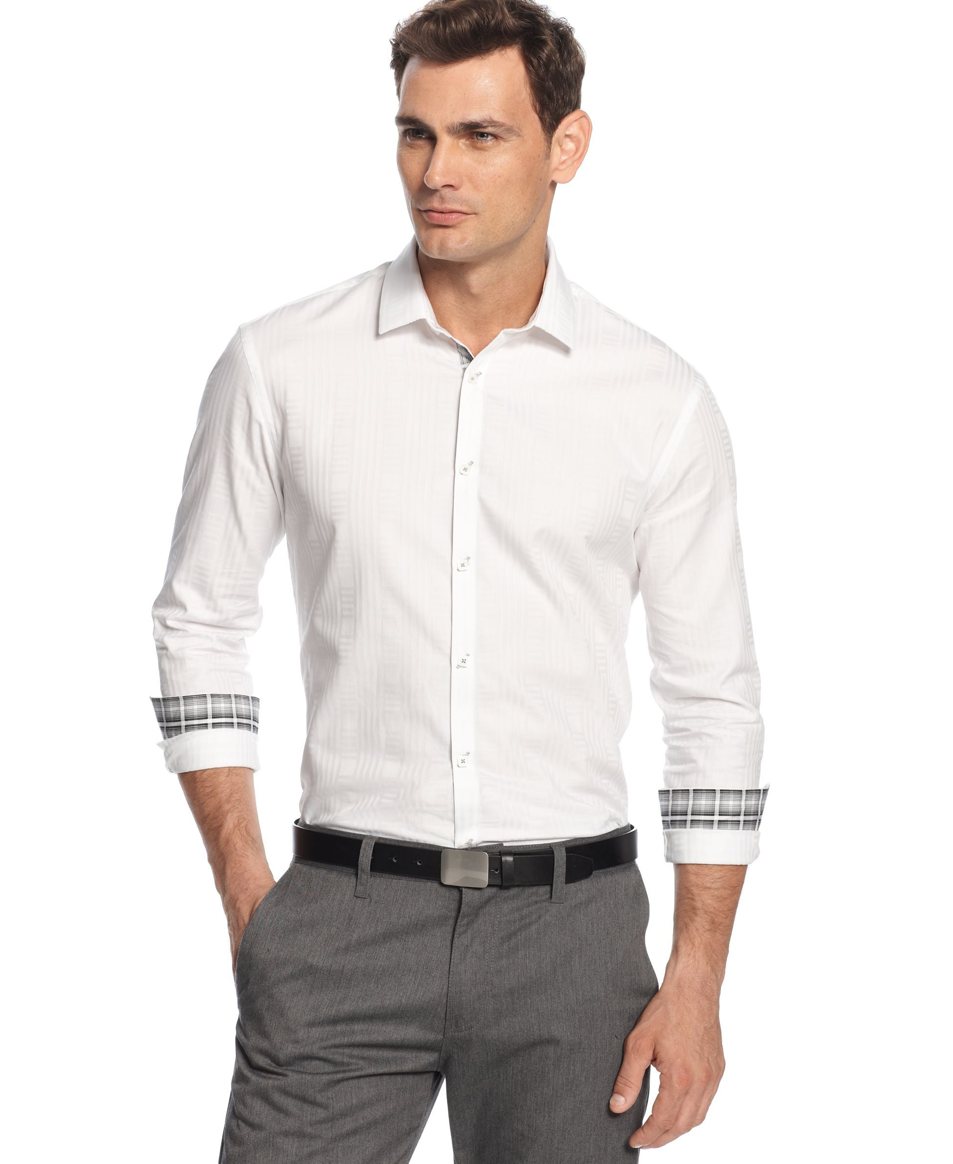 Alfani Black Durocher Regular-Fit Textured Shirt