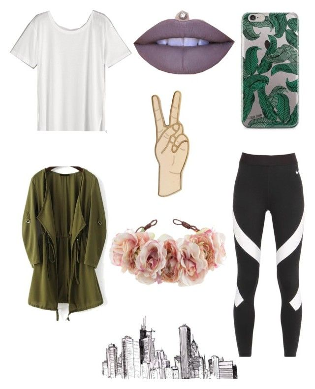"""Paper towns"" by celeste-05 on Polyvore featuring Jeffree Star, Lucky Brand, NIKE and Rock 'N Rose"