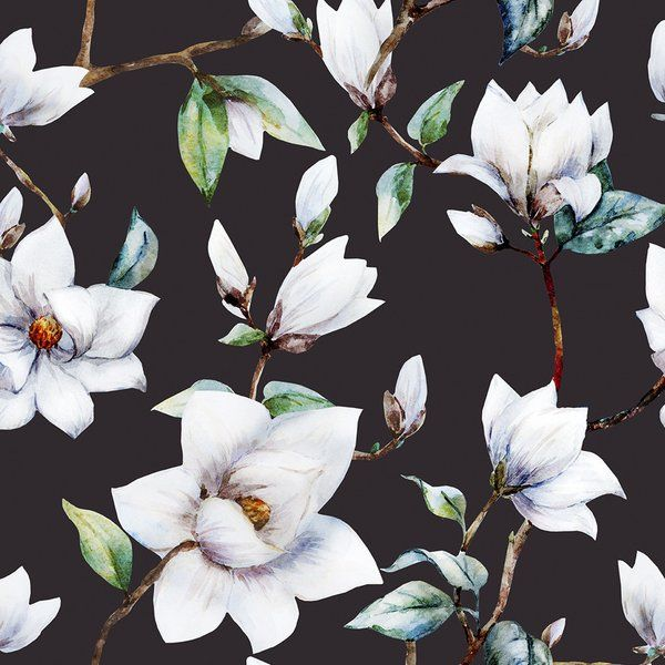 You Ll Love The Vintage Magnolia 5 X 20 Quot Floral Wallpaper Roll At Joss Amp Main With Great Deal Magnolia Wallpaper Floral Wallpaper Feature Wallpaper