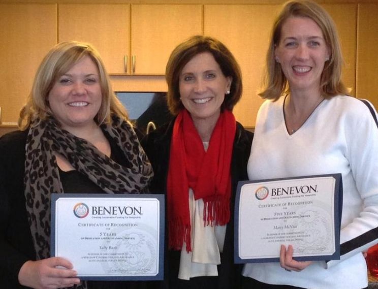 Congratulations to Sally & Marcy on being at benevon for 5 years! Thank you for your commitment to our work!