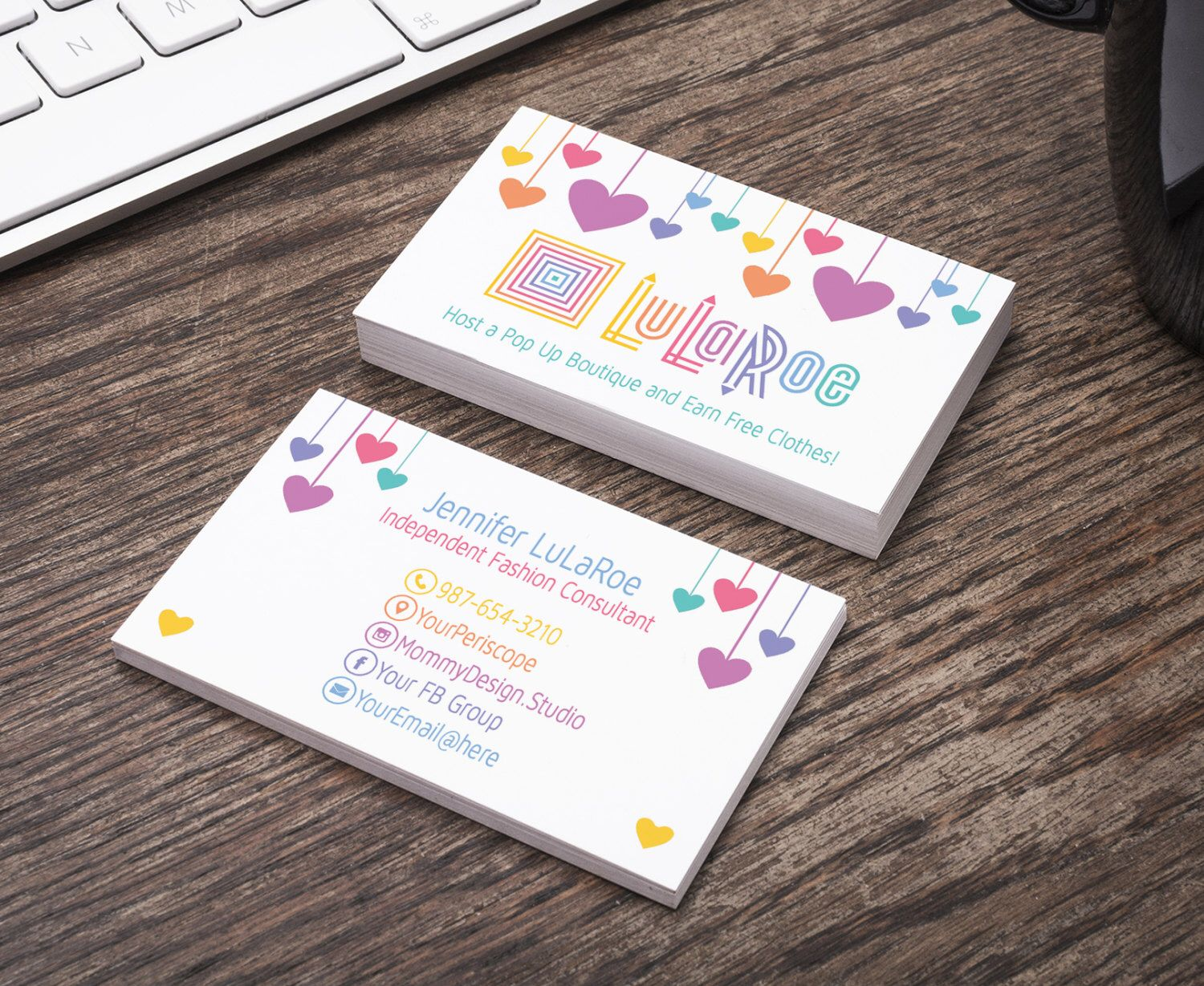 Hearts Business Card - Home Office Approved Colors/Fonts - Bundles ...