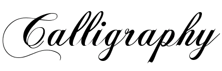 calligraphy font free