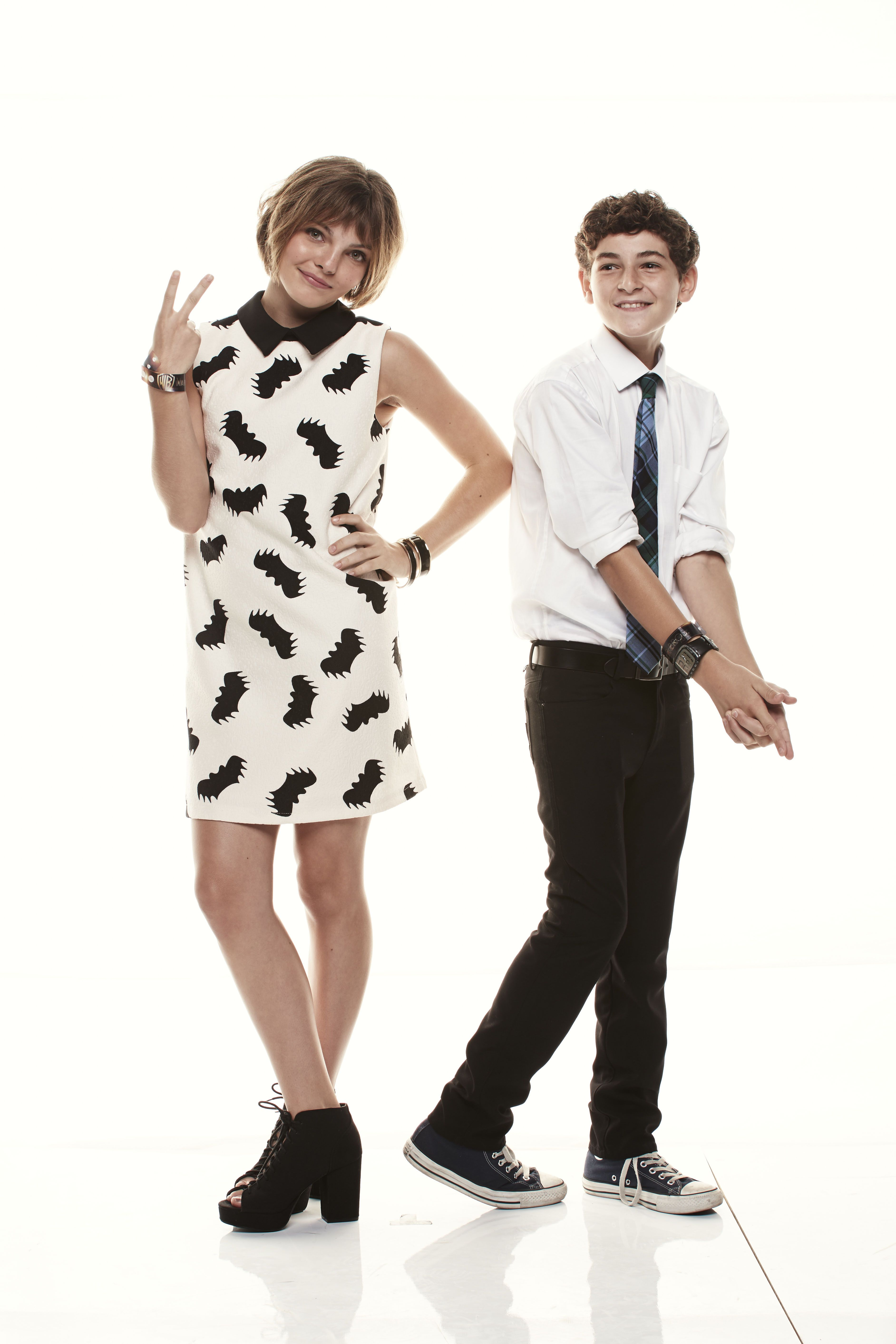 GOTHAM stars Camren Bicondova and David Mazouz visited the Warner Bros. Television Photo Studio at WBTV's Comic-Con cocktail media mixer at the Hard Rock Hotel's FLOAT Rooftop Bar on Friday, July 25. #WBSDCC