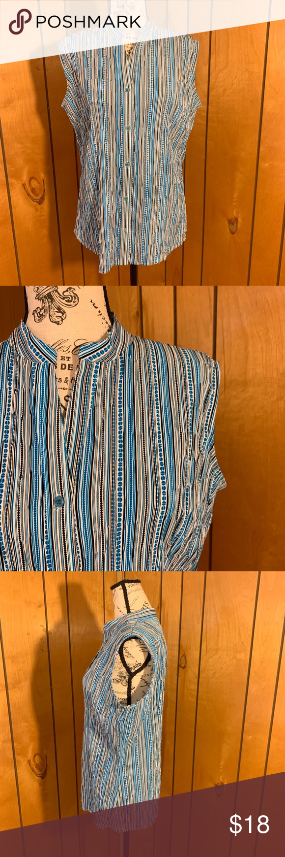 East 5th Sleeveless Button Down Shirt Excellent Preowned Condition Women S East 5th Sleeveless Button Down Size Lar With Images Clothes Design Button Down Shirt Sleeveless