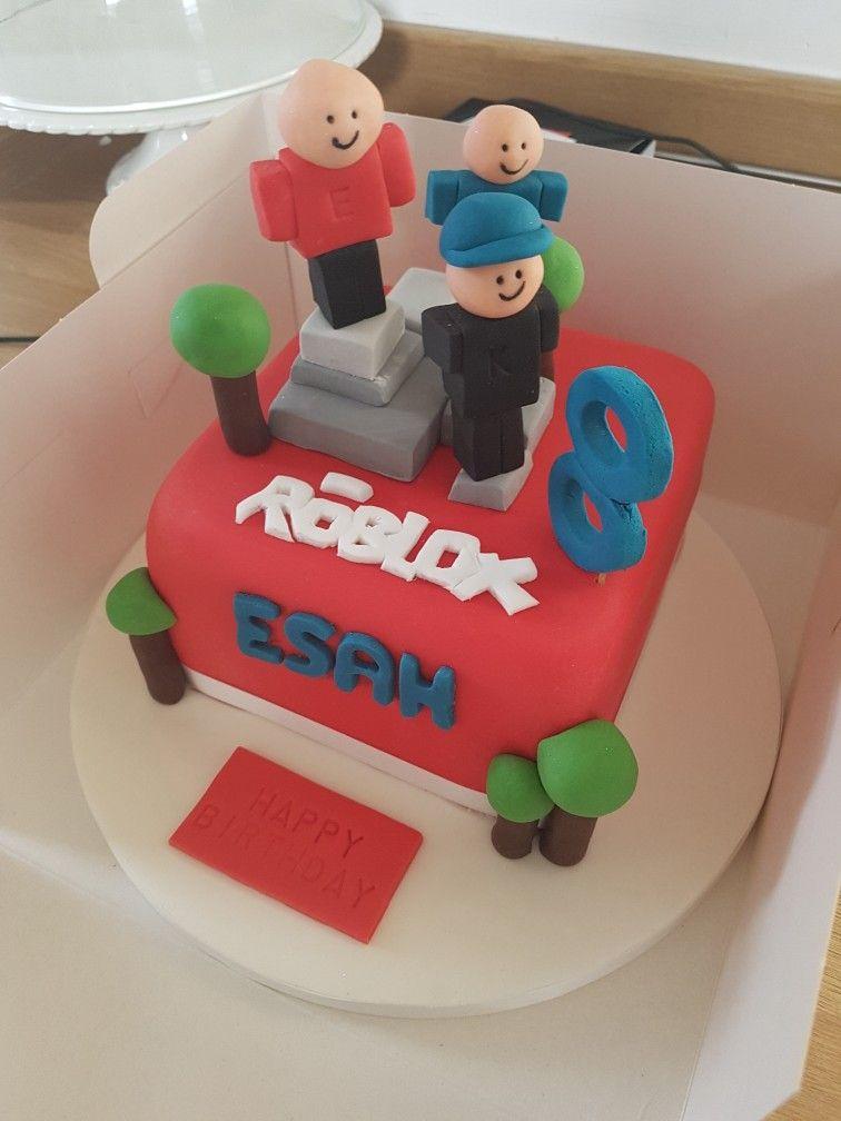 Roblox Birthday Cake Tortas Tortas Para Ninos Fiesta
