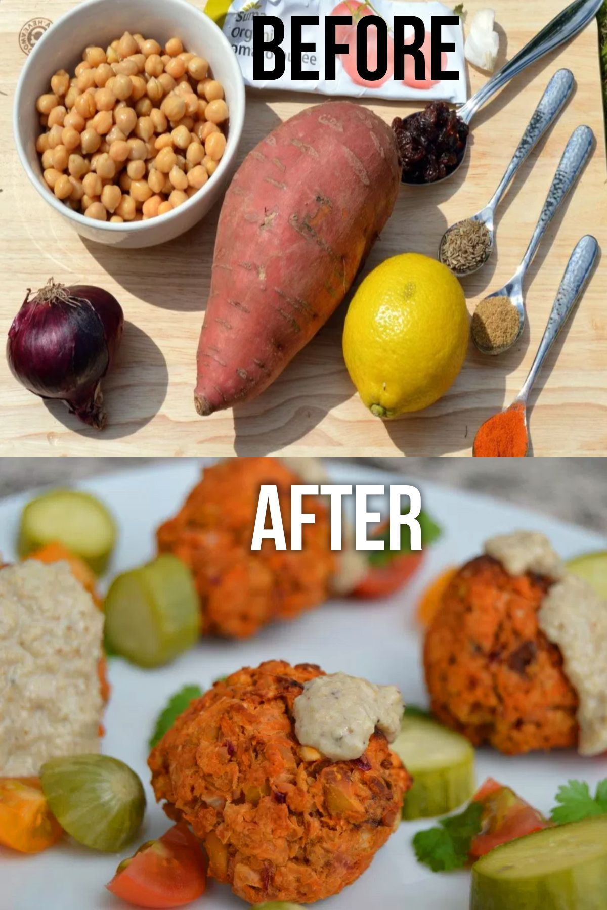 Baked sweet potato falafels from just a few basic ingredients. No added oil and bursting with good stuff. The lemon rind really brings out the flavour of these. Naturally free of dairy, gluten and oil. Suitable for a whole foods plant based diet via @nestandglow 443323157067200498
