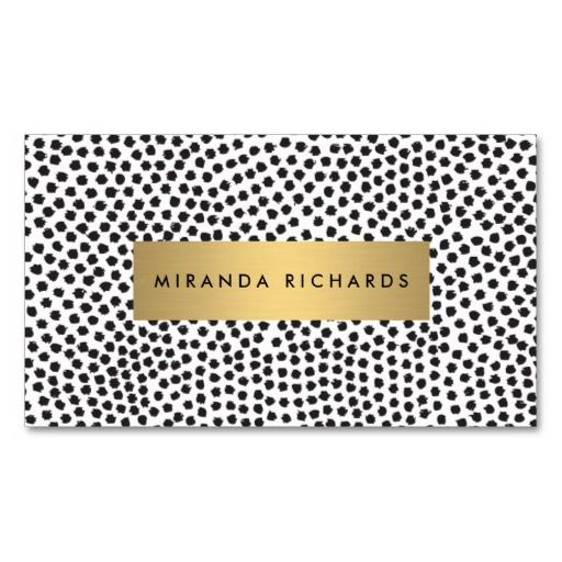 Luxe black confetti dots with gold bar business card stock options luxe glamour on a printed business card the graphic bold on trend design depicts glamour and style choose from multiple card stock options colourmoves