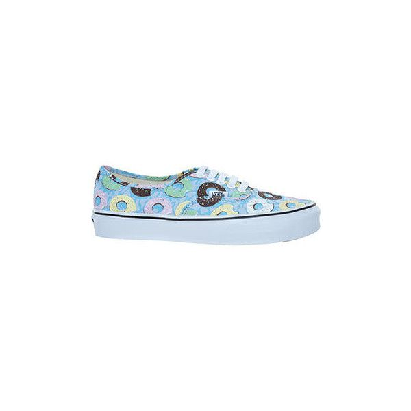 Vans Blue Late Night Donut Sneakers ($24) ❤ liked on Polyvore featuring shoes and sneakers
