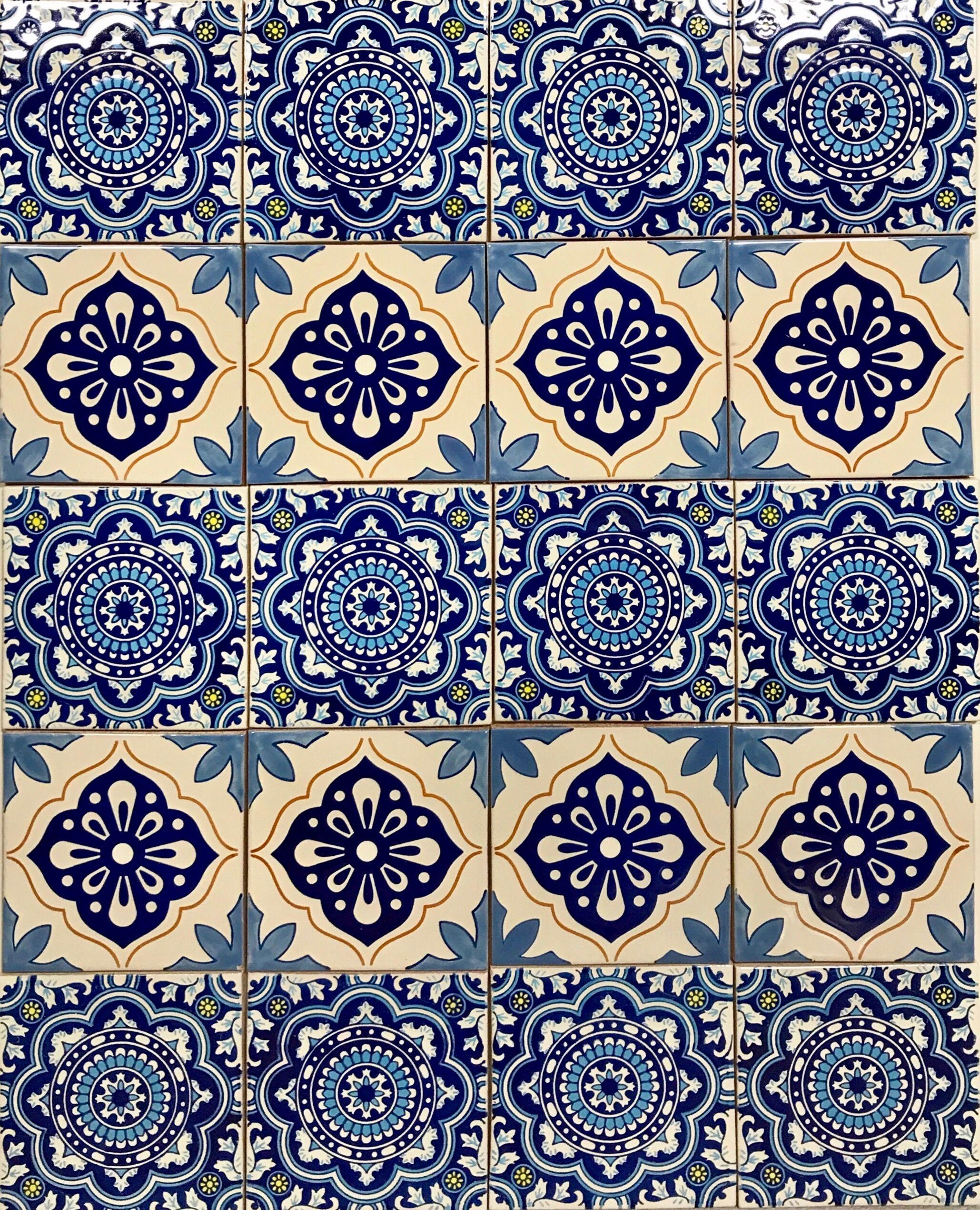 mexikanische fliesen 15x15 cm aus keramik premium handbemalt von mexambiente hochwertige. Black Bedroom Furniture Sets. Home Design Ideas