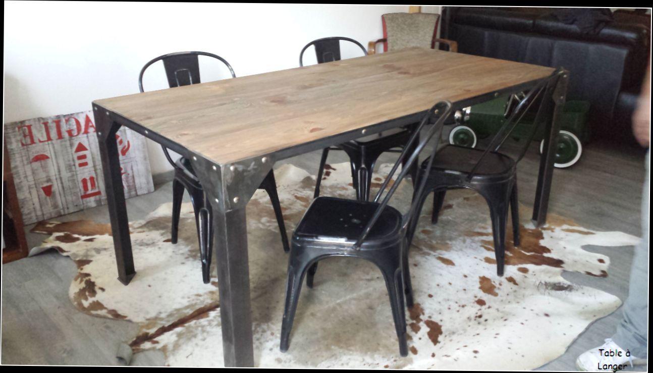Table Basse Industrielle Pas Cher Table De Salle A Manger Style ...