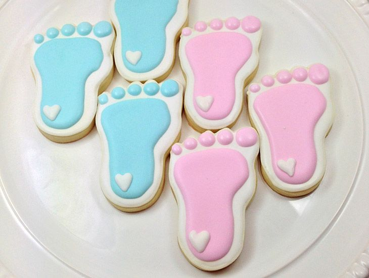 7 Adorable Baby Shower Cookie Themes Gender Reveal Cookies