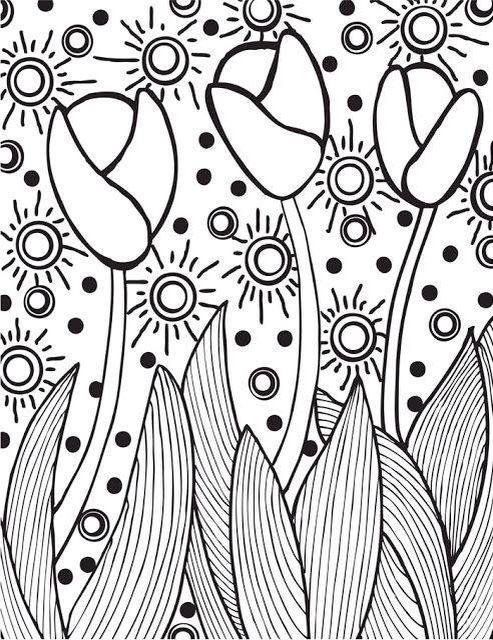 Tulipa Desenhos Para Criancas Colorir Arte Em Mosaico E