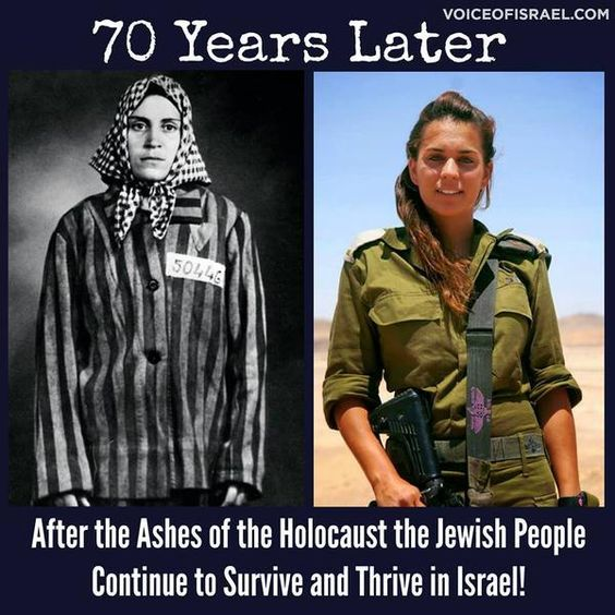 Image result for images before and after pictures of holocaust jews and idf jews