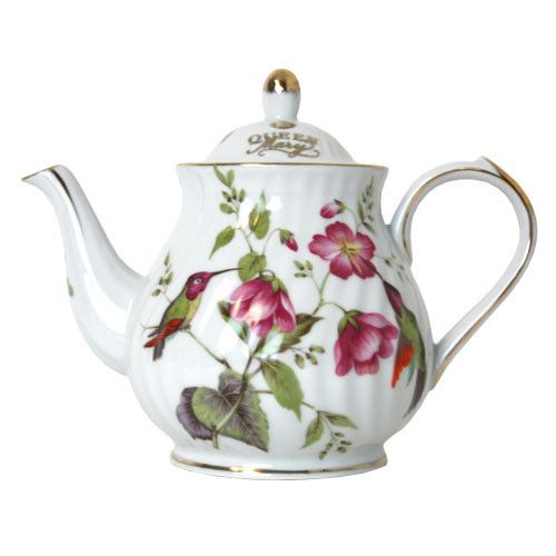 queen mary teapot hummingbird queen mary tea if you like tea etc pinterest. Black Bedroom Furniture Sets. Home Design Ideas