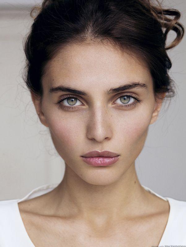 Black Hair Grey Eyes Woman