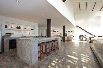 Diseño de Cocinas de Cemento Decoración de Cocinas de Concreto