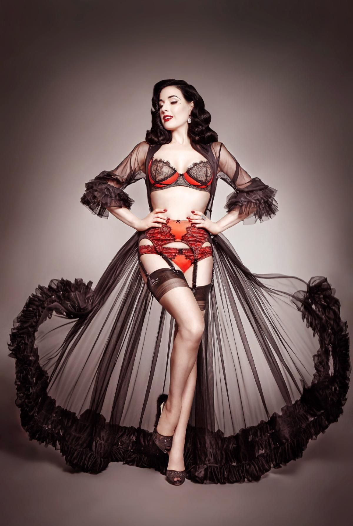 315484b5cea Dita Von Teese has always had a taste for all things lacy and luxurious.  The star shines as the face of her new line