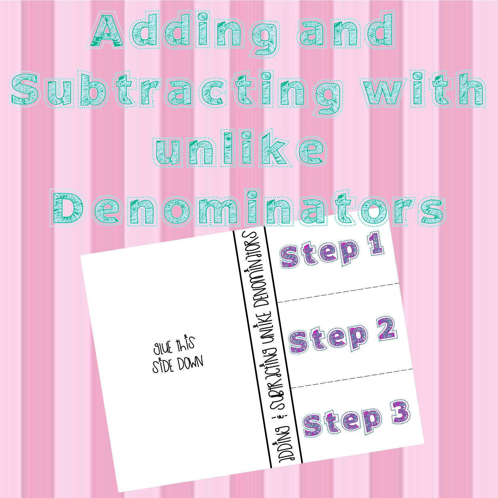 Adding Amp Subtracting Unlike Denominators With Images