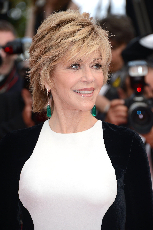 Jane Fonda Coiffures Coiffure, Cheveux, Chignon