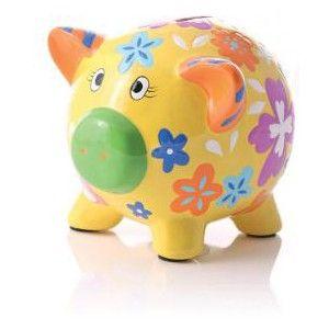 Childrens Novelty Piggy Bank (Yellow)