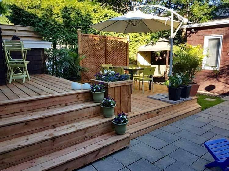 Beautiful Backyard Deck By Oasis Patio In Montreal Canada Camo