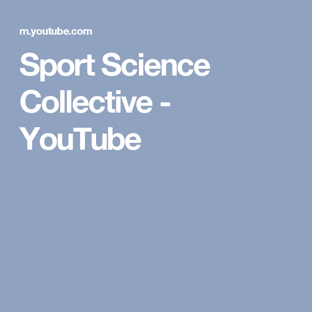 Sport Science Collective - YouTube