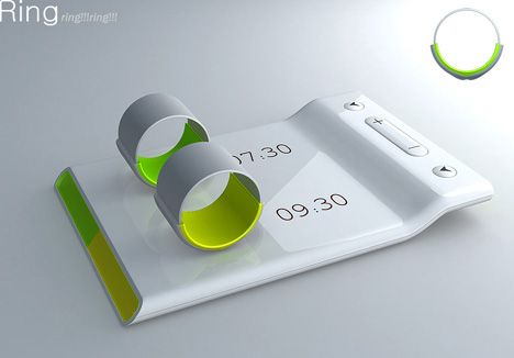 Couples alarm clock. Rings that you wear for separate wake up times. The rings vibrate to wake you but not your partner