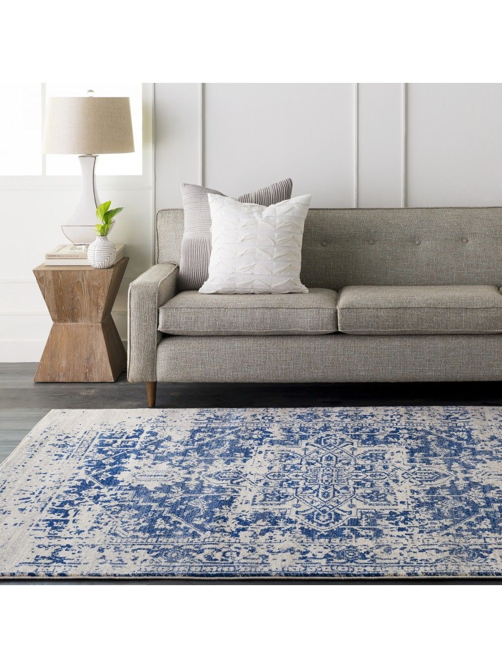Lulu Amp Georgia Prisha Rug White And Blue Blue Area Rugs