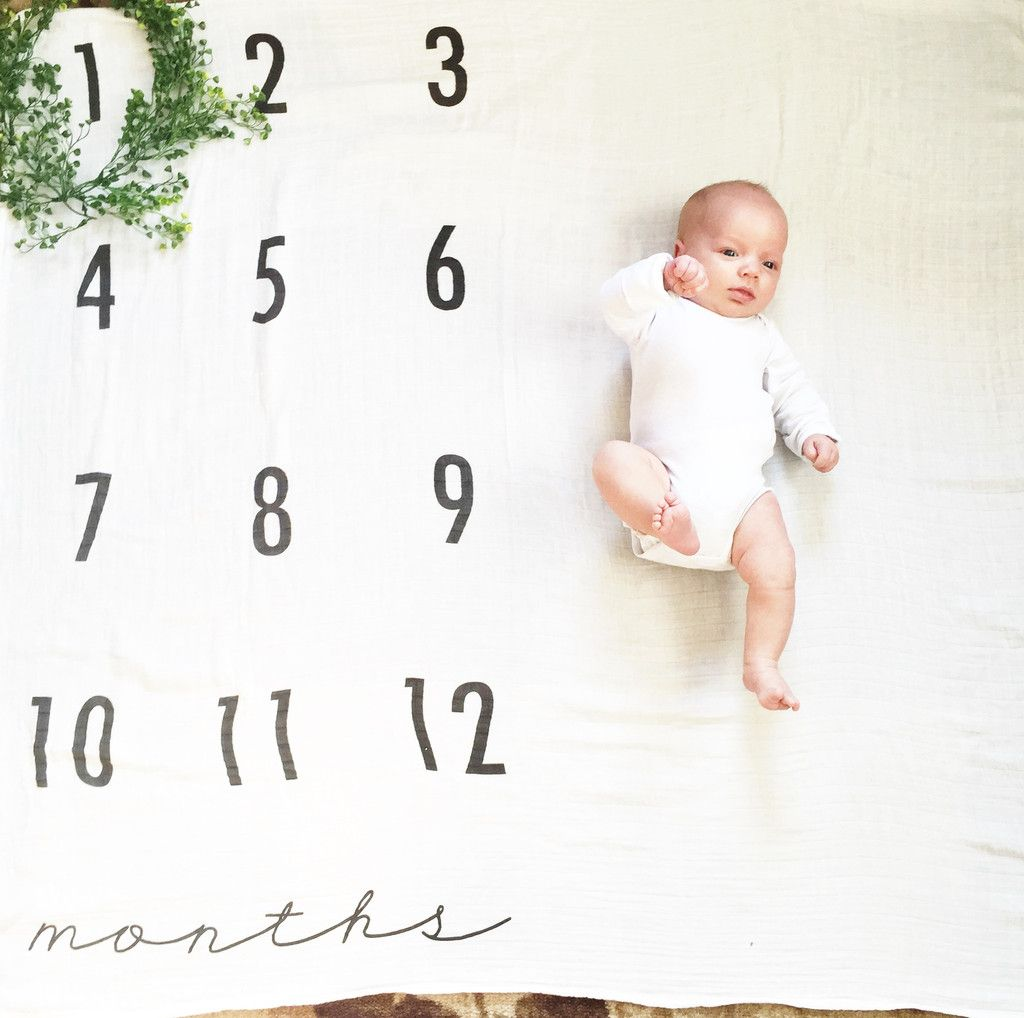 Quot Watch Me Grow Quot Baby Milestone Blanket Baby Monthly