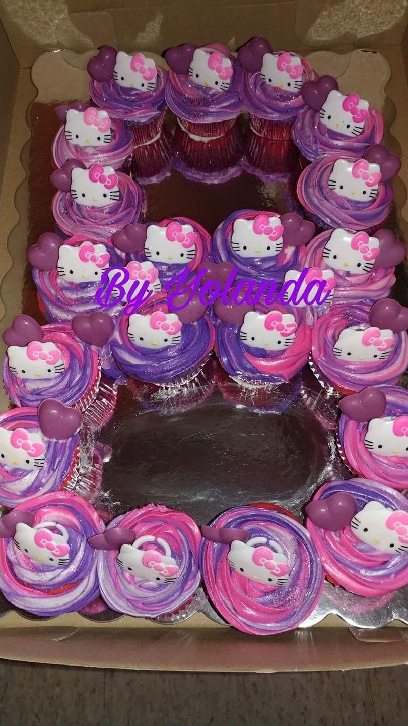 Hello Kitty Pull A Part Number 8 Cupcakes Big Londa S