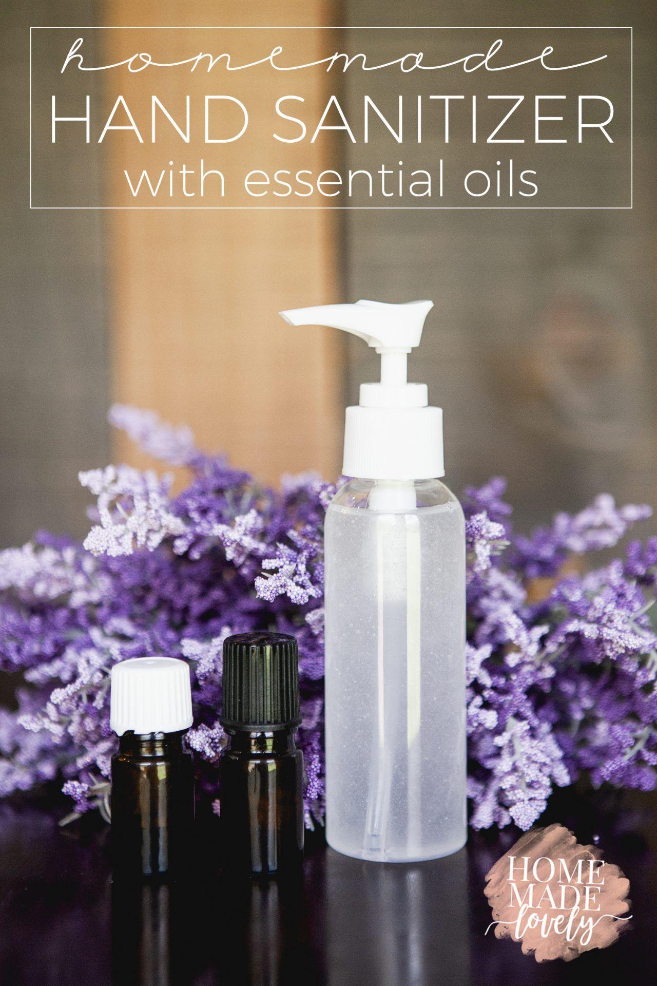 Homemade Hand Sanitizer With Essential Oils Recipe Hand