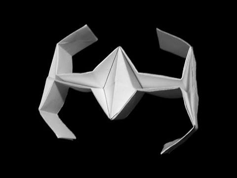 How To Fold Origami Star Wars Tie Fighter Origami Pinterest
