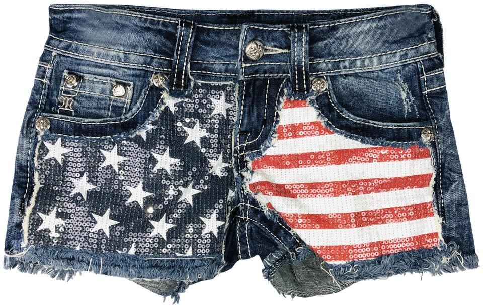 Miss Me Blue Patriotic Flag Stars Stripes Seqined Denim Shorts Size In 2020 Jeans For Short Women Summer Shorts Outfits High Waisted Black Jeans