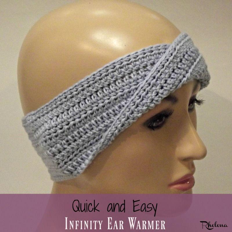Quick and Easy Infinity Ear Warmer   Crochet hats & ear warmers ...
