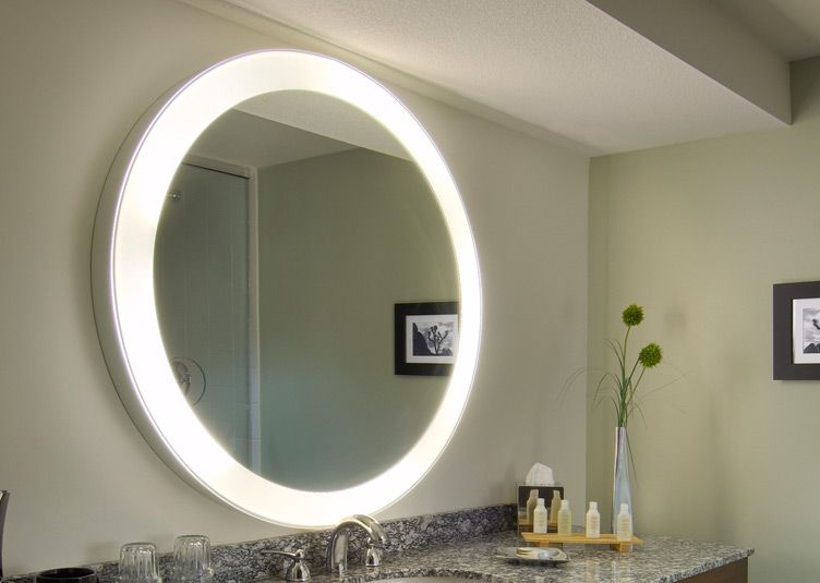 Modern Led Lighted Wall Mounted Vanity Mirror Round Shape: Absolutely Smart Bathroom Mirror With Lights Built In Wall