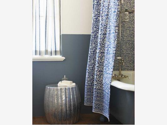 Indigo Shower Curtain - Home and Garden Design Ideas
