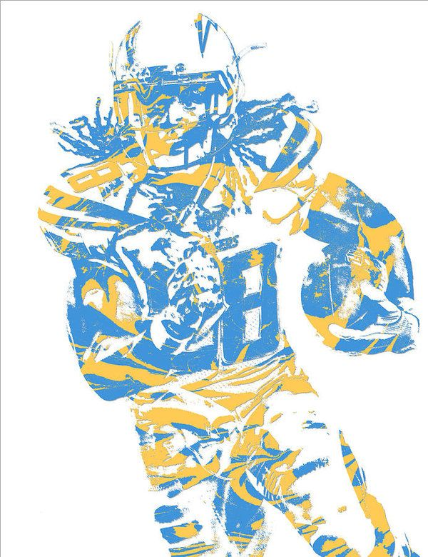 Melvin Gordon Los Angeles Chargers Pixel Art 11 Art Print By