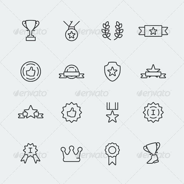 Awards Icons Icons Icon Set And Font Logo