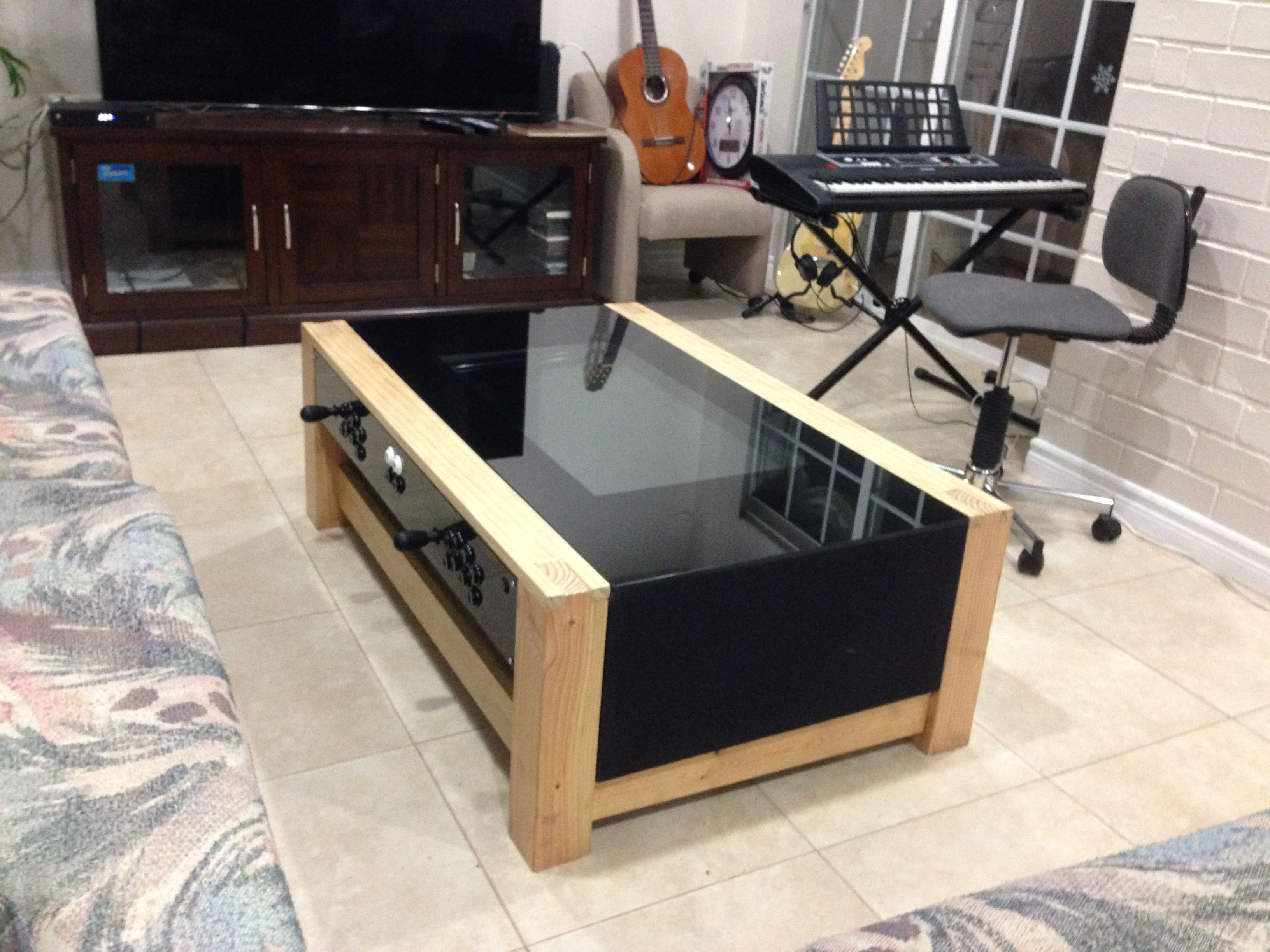 diy arcade coffee table in 2019 gift ideas for the hubby. Black Bedroom Furniture Sets. Home Design Ideas