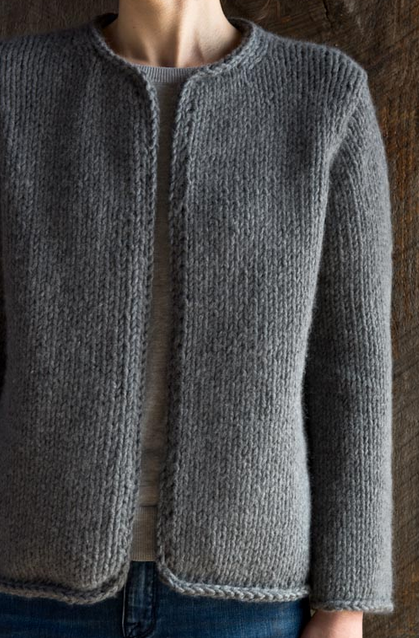 Classic Knit Jacket | Easy sweater knitting patterns ...