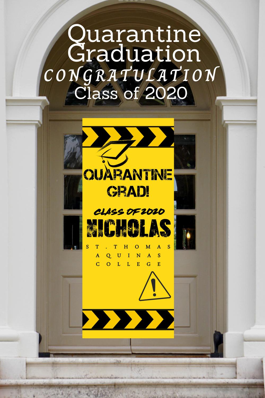 Class of 2021 Graduation Banner Custom Banner Graduation Yard Sign Quarantine Grad Banner Graduation Sign Outdoor Banner for Graduation