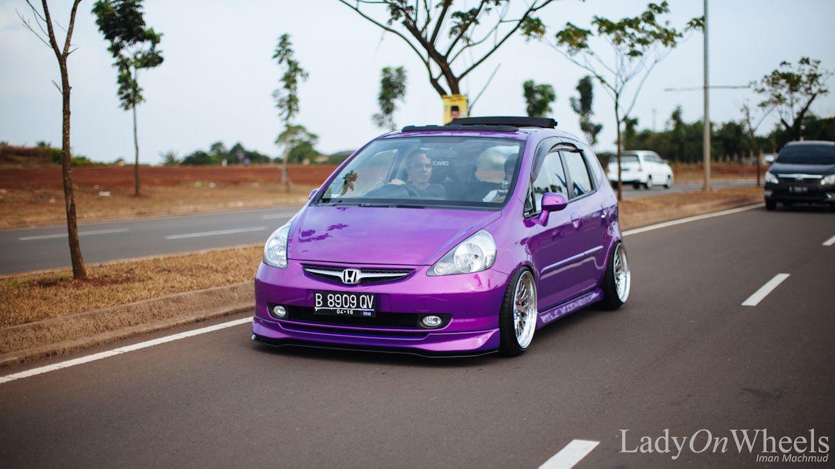 Purple honda jazz i love it vroom vroom pinterest for Purple honda fit