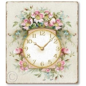 shabby clock - reminds me of Grandma T.